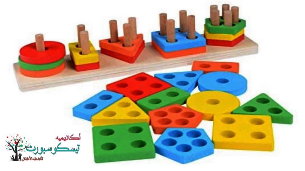 لعبة بازل العاب تنمية الذكاء لفرز الأشكال الهندسية