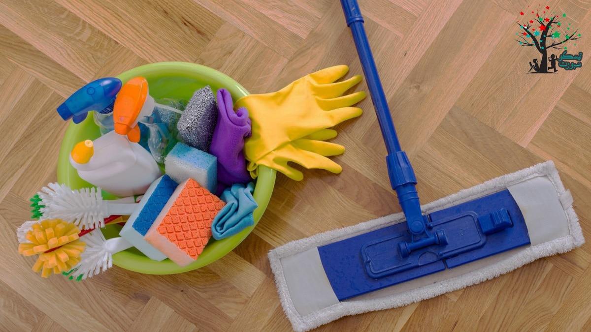 الأسس المستخدمة في جدول تنظيف البيت