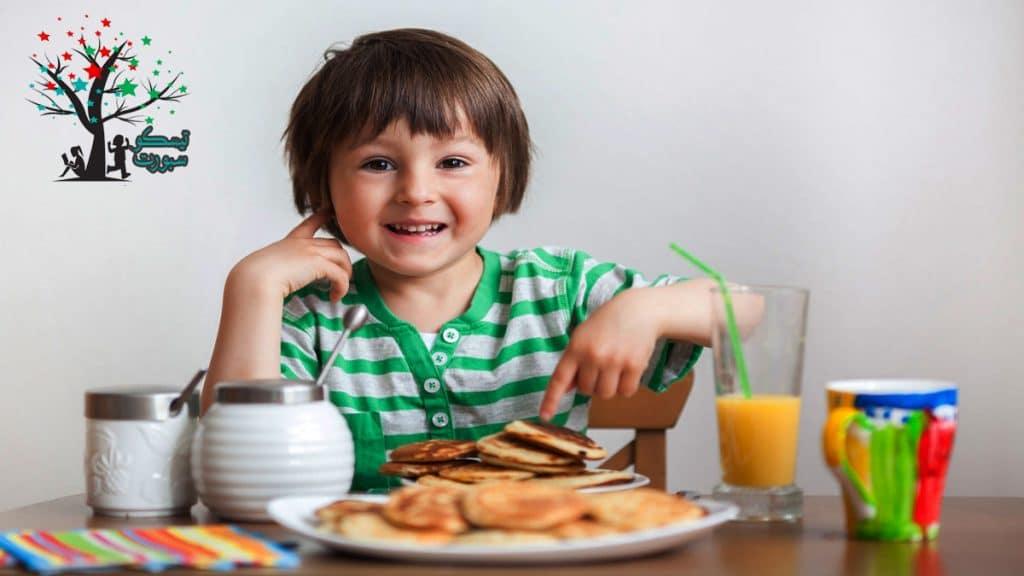 كمية الوجبة والاكل صحي للاطفال