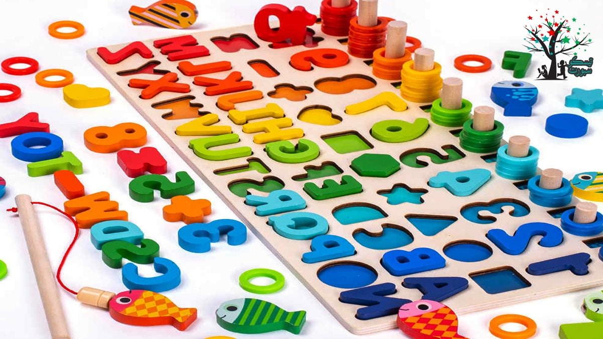 لعبة ألغاز اللوح الخشبي للتعليم من العاب بازل تركيب